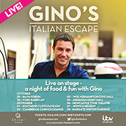 Gino D'Acampo 'Gino's Italian Escape' Live on stage - A night of food and fun with Gino